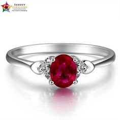 Adorable #ruby  sterling silver #rings  at SehdevJewellers..com