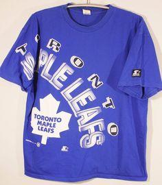 5e23bad53 Toronto Maple Leafs Vintage 1993 NHL Hockey Starter Mens Graphic T Shirt  Size XL