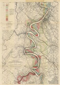 """Fisk Map"" of the Mississippi River"