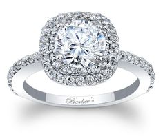 Barkev's Double Halo Engagement Ring - 7977LW