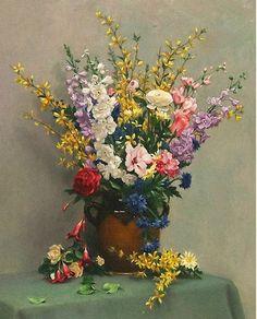 pinturas-realistas-de-bodegones-con-floreros