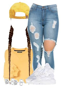 """""""Untitled #1298"""" by kiaratee ❤ liked on Polyvore featuring NIKE, Auriya, women's clothing, women's fashion, women, female, woman, misses and juniors"""
