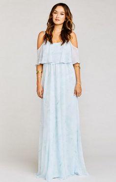 5fb3dcb7706d MUMU Caitlin Ruffle Maxi Dress ~ Baby Babers Bridesmaid Dresses Floral  Print