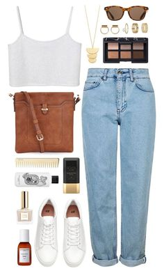 """""""Della soleil"""" by sophiehackett ❤ liked on Polyvore featuring Topshop, Accessorize, Miss Selfridge, Diptyque, Sachajuan, Soleil Toujours, ToyShades, NARS Cosmetics, Monki and Gorjana"""