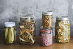 Warren Elwin pickles the season's bounty, packs it into jars and refrigerates it for summer scoffing