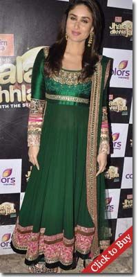 Kareen kapoor in Green salwar kameez at color channel
