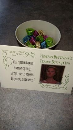 Princess Bride Party... Princess Buttercup's Peanut Butter Cups