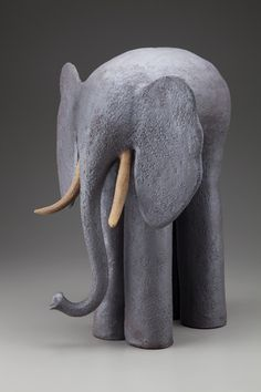Elephant with Tusks ceramic