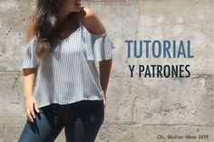 DIY Costura de blusa sin hombros mujer (patrones gratis)