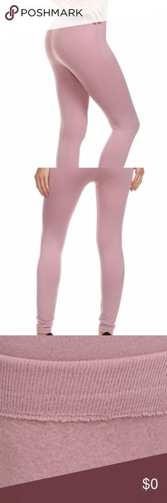 Mauve Pink Warm Fleece Leggings Mauve Thermal Warm Fleece Lined Seamless Leggings. 6 one-size available. Fits S-L comfortably - could even stretch to an XL depending on how you like the fit. Material: 90% Polyester, 10% Spandex. shosho Pants Leggings