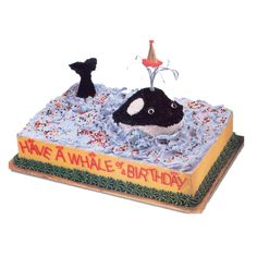 Reel in the compliments with this Birthday Blow-Out cake design. It?s fun and fast and sure to provide a whale of a birthday treat for any age.