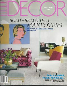 Elle Decor magazine Bold and beautiful makeovers Table Lamps Tiles Textiles    .