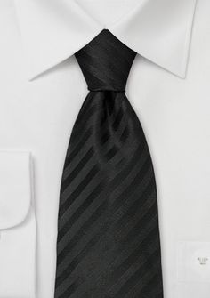 Black silk tiesClassic black necktie