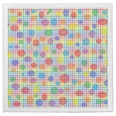 Rainbow Weave and Polka Dots Paper Napkins #zazzle #party #napkins #rainbow #weave #dots