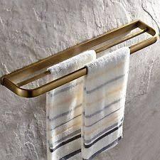 Leyden TM 4-Bars Towel Bar Gold Brass Active Folding Bath Towel Holder Shelf Wall Mounted Towel Rack Gold Finish Leyden Fashion Home