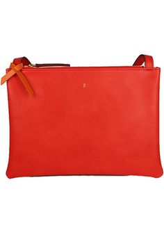 Angela Roi #vegan Tulip crossbody in Red-Orange. Benefits the National Kidney Association.