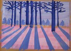 Зимний пейзаж гуашью для детей 6-7 лет. Мастер-класс с пошаговыми фото