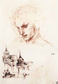 Study of an apostle's head and architectural study, 1496