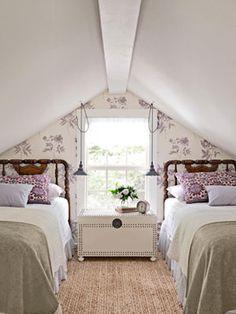Attic bedroom traditional bedroom