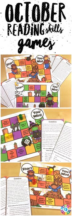 These highly engaging reading games are great for practicing key non-fiction and fiction reading skills this October!  With this Fall Reading Game and this Halloween Reading Game, students will practice main idea, theme, sequence, author's purpose, inferences, fact and opinion, and much more!