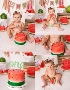 {Maci} is One in a Melon Smash Cake First Birthday, First Birthday Themes, Baby Girl 1st Birthday, Birthday Fun, First Birthdays, Birthday Ideas, Birthday Gifts, Watermelon Birthday Parties, Foto Newborn