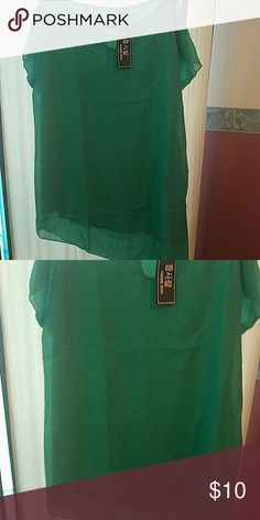 Green top Green shirt with tags.smoke free home Tops Blouses