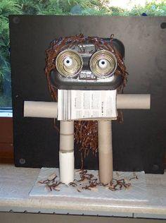 selber machen basteln diy ideen anleitung selbermachen mein kleiner roboter kinder. Black Bedroom Furniture Sets. Home Design Ideas