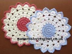 pfc110-Round Table Mat crochet pattern