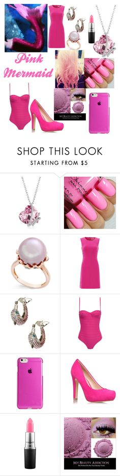 """""""Pink mermaid"""" by bella275 ❤ liked on Polyvore featuring interior, interiors, interior design, home, home decor, interior decorating, Cotton Candy, Diane Von Furstenberg, Betsey Johnson and Prism"""