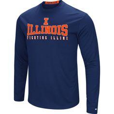 Colosseum Women's Illinois Fighting Illini Blue Streamer Long Sleeve T-Shirt, Size: Medium, Team