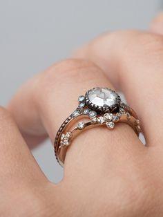 Erstwhile rose cut diamond engagement ring at @catbirdnyc