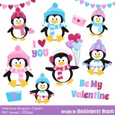 80% OFF SALE Valentine's Day Clipart by HuckleberryHearts on Etsy
