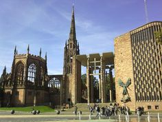 Ruins & New Coventry Cathedral - England