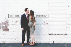 Amanda Jane Jones' My Better Half series. I like the simple brick wall as a backdrop for portraits and stuff.