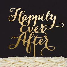 For a modern wedding, go for a gold laser-cut wedding cake topper to proclaim your happily ever after.