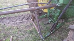 Here is a simple boom pole for a tractor. Most boom poles are all rigid mounted and do not have high lifting capabilities.