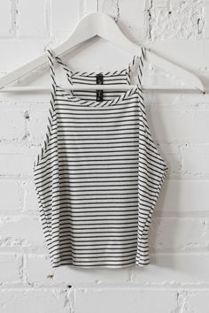 Striped Knit Crop Top