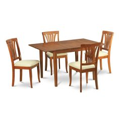 East West Furniture MLCA5-MAH-LC 5-Piece Kitchen/Dinette Table Set ...