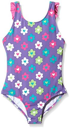 Hatley Big Girls Flower Garden Ruffle Swimsuit Purple 8 >>> Check out the image by visiting the link.