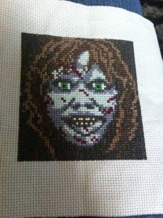 another exocist xstitch i just completed which is slightly different to the last one i stitched