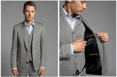 gray suit wedding - Google Search