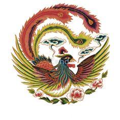 Asian Art Chinese Phoenix by Zehda