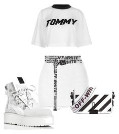 all white + off-white by haisleigh on Polyvore featuring polyvore, fashion, style, Tommy Hilfiger, Rodarte, Puma, Off-White and clothing