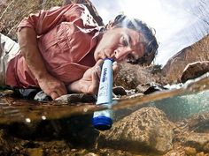"Portable Water Filters by Lifestraw. My husband is a ""Prepper"", so this would be perfect for him to have in his bugout bag!"