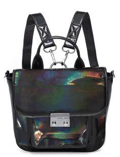 ULTRAVIOLET POTION MINI HOLOGRAPHIC SATCHEL - Bags - LAMODA