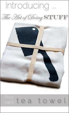 I love The Art of Doing Stuff #2 screen printed tea towel..part of the Great, Gargantuan, Giftmas Giveaway #2