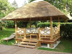 Gazebo is pergola type structure, which can be erected in your lawn. But there is little bit difference in pergola and gazebo as pergola is simple structure… Outdoor Gazebos, Backyard Gazebo, Garden Gazebo, Backyard Landscaping, Backyard Ideas, Landscaping Ideas, Patio Ideas, Garden Ideas, Diy Gazebo