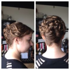 A soft and romantic updo