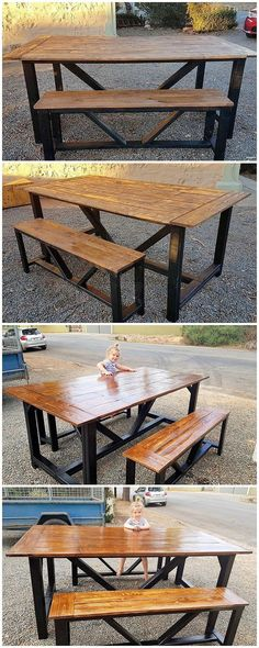 Over this image, we have shared the so interesting piece of the bench with the pairing of the table for you where the custom additional effect of the wood pallet is also adjusted to be the part of it. This creation project has been looking out to be stylish much as on the whole.