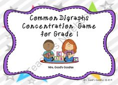 Common Digraphs Concentration from Mrs. Good's Goodies on TeachersNotebook.com -  (6 pages)  - Practice digraphs with this fun memory game!